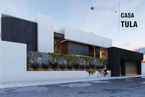 Casa Tula: Casas de estilo moderno por Besana Studio