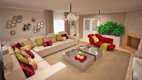 RELAX: Salas de estar modernas por GRAÇA Decoração de Interiores