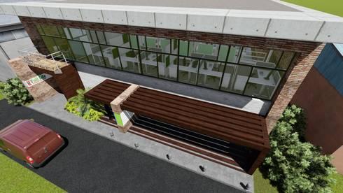 Galpón Industrial Laboratorio en Miami 06: Garajes y galpones de estilo moderno por Arquitectura Creativa