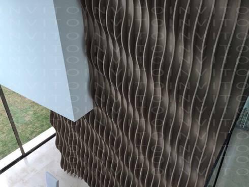 Muro Invito: Paredes y pisos de estilo minimalista por INVITO