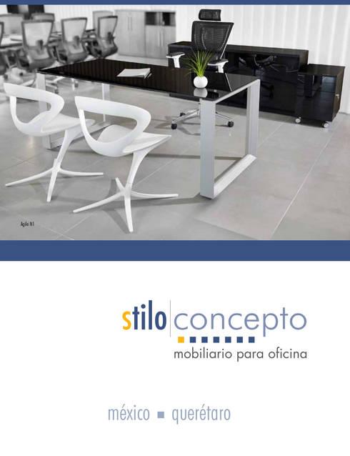 Mobiliario para Oficina : Oficinas y tiendas de estilo  por Stilo Concepto