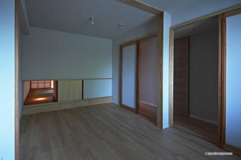 和室と子供室が繋がる(El cuarto para niños se relaciona con el cuarto del estilo japonés.): アグラ設計室一級建築士事務所 agra design roomが手掛けた子供部屋です。
