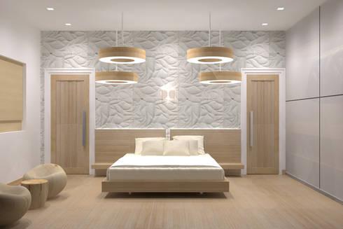 VILLA AT THIRUVANMALAI: modern Bedroom by De Panache  - Interior Architects