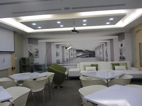 VOLVO OFFICE, HOSAKOTE, BANGALORE. (www.depanache.in):   by De Panache  - Interior Architects