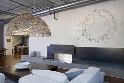 Adams Morgan Living Room Lighting : modern Living room by Hinson Design Group