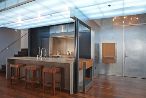 Adams Morgan Kitchen Lighting : modern Kitchen by Hinson Design Group