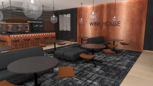 Casa de Vinhos  Wine House: Espaços de restauração  por  IDesign.art by Paula Gouveia