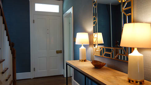32: eclectic Corridor, hallway & stairs by Nest Interior Decor