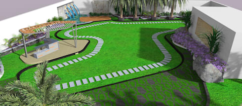 Residence: modern Garden by microscapes