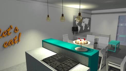 Cozinha sala:   por Maria Eduarda Reis Interiores