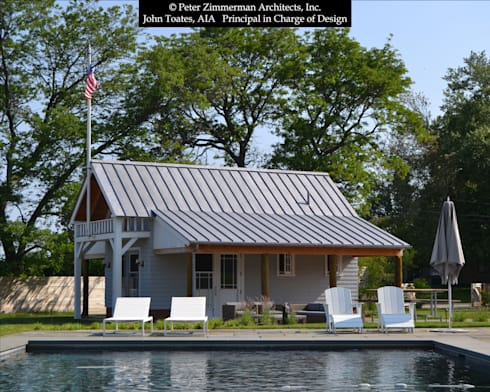 Front Facade Boathouse: classic Pool by John Toates Architecture and Design