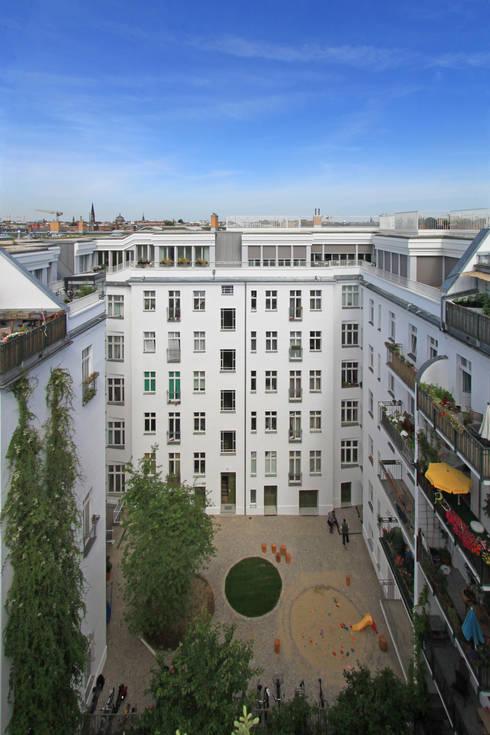 patio view: modern Houses by brandt+simon architekten