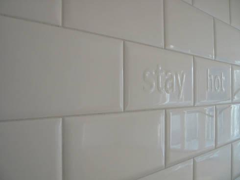 kitchen tiles:  Walls by brandt+simon architekten
