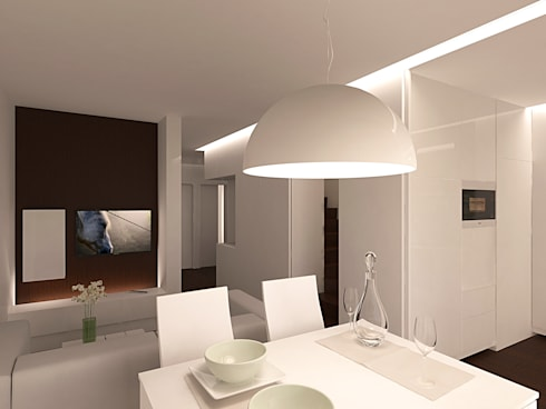 Reformulaçao de um apartamento no centro historico: Salas de estar minimalistas por 2L'atelier arquitectos