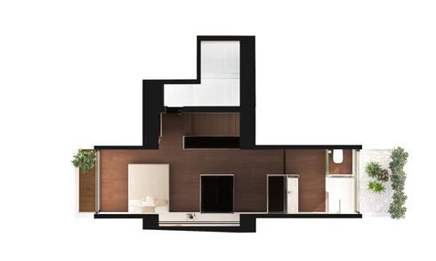 Reformulaçao de um apartamento no centro historico: Casas minimalistas por 2L'atelier arquitectos