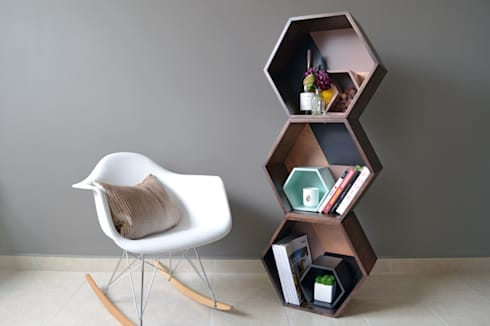 PANAL ON WOOD: Salas de estilo moderno por APOTEMA Estudio de Diseño