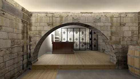 Espaço da Loja: Adegas modernas por A3 Ateliê Academia de Arquitectura