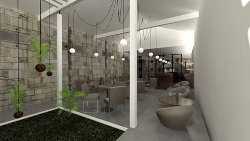 Sala : Salas de estar modernas por A3 Ateliê Academia de Arquitectura