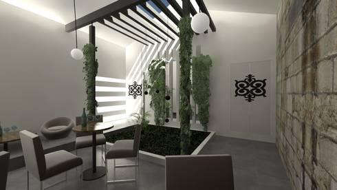 Jardim e Luz natural: Jardins de Inverno modernos por A3 Ateliê Academia de Arquitectura