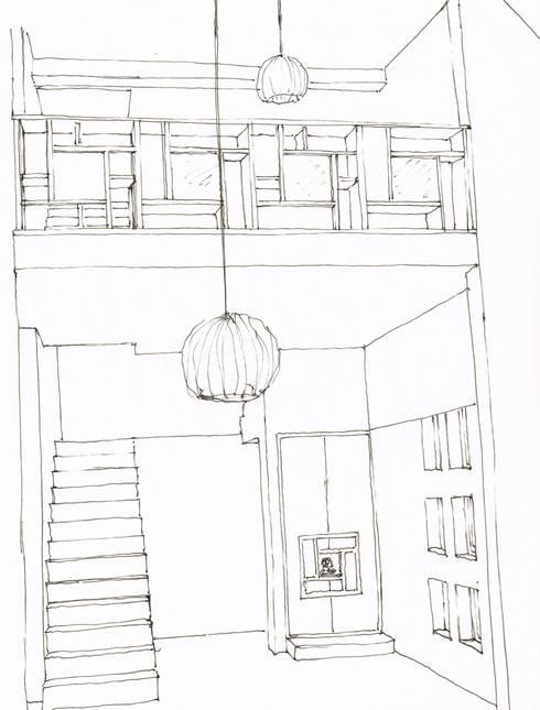 Projekty,  Korytarz, przedpokój zaprojektowane przez A3 Ateliê Academia de Arquitectura