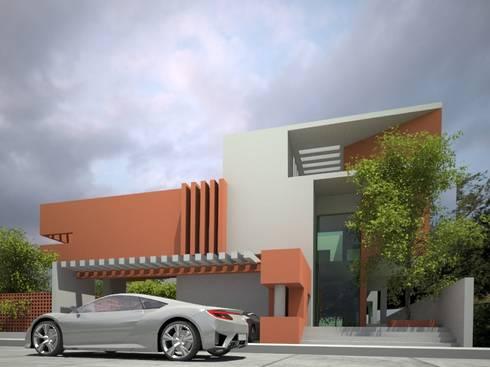 CASA SENDEROS: Casas de estilo minimalista por sanmartiarquitectos