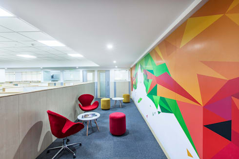 ISG Office, Bangalore: modern Study/office by freedom of design