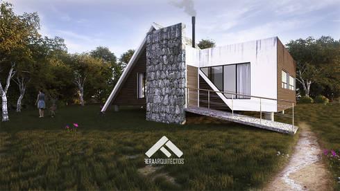 CABAÑA 01: Casas de estilo escandinavo por FERAARQUITECTOS