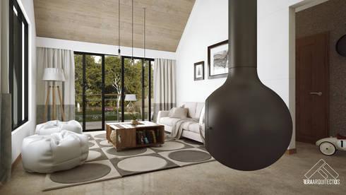 ESTANCIA: Salas de estilo escandinavo por FERAARQUITECTOS
