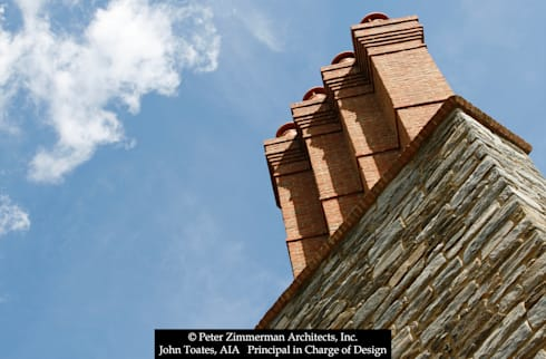 Chimney Detail: classic Houses by John Toates Architecture and Design