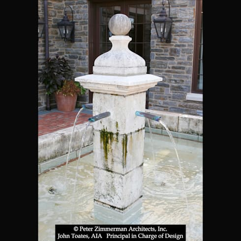 Fountain Detail: classic Houses by John Toates Architecture and Design