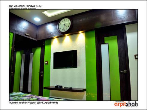 Vipul Pandya @ Indraprasth—4, Prahladnagar:   by ARPIT SHAH PROJECTS OPC PVT LTD.