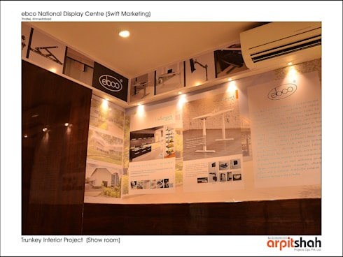 ebco Showroom @ Thaltej, SG Mall:   by ARPIT SHAH PROJECTS OPC PVT LTD.