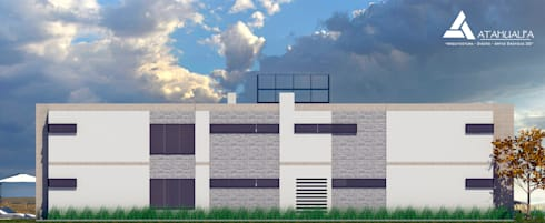 Fachada oeste: Casas de estilo moderno por Atahualpa 3D