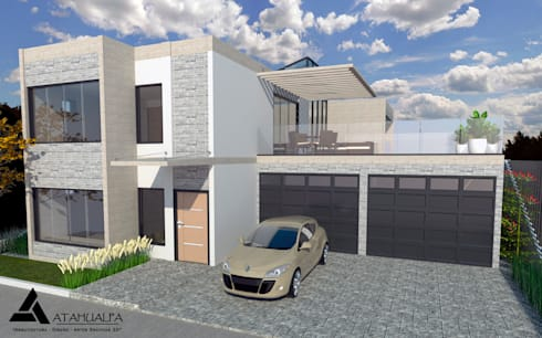 Render Vista Principal: Casas de estilo moderno por Atahualpa 3D