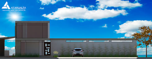 Fachada Sur: Casas de estilo moderno por Atahualpa 3D