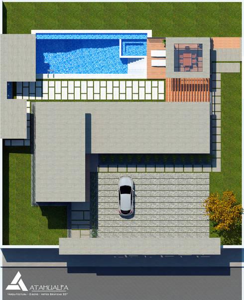 Planta Techo: Casas de estilo moderno por Atahualpa 3D