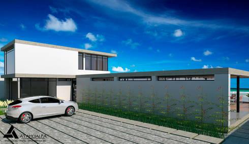 Render Vista Posterior : Casas de estilo moderno por Atahualpa 3D