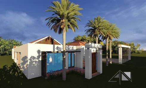 Casa GMA - fachada principal:  de estilo  por ARQUITECTOnico