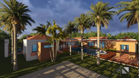 Casa GMA Parqueo - zona social:  de estilo  por ARQUITECTOnico