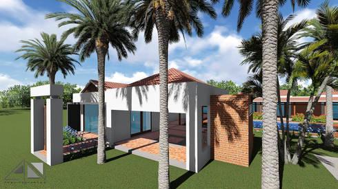 Casa GMA - fachada :  de estilo  por ARQUITECTOnico