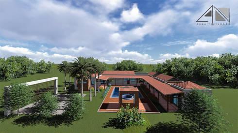 Casa GMA Vista general.:  de estilo  por ARQUITECTOnico