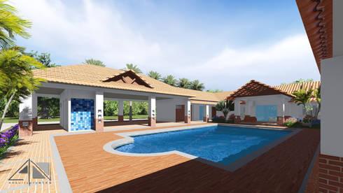 Casa RG - piscina:  de estilo  por ARQUITECTOnico