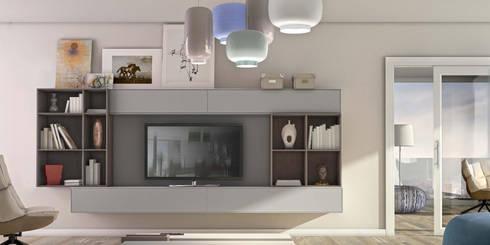 Mobiliário de salas de estar com design Furniture of living rooms with design www.intense-mobiliario.com   ZIBY ht: Sala de estar  por Intense mobiliário e interiores;
