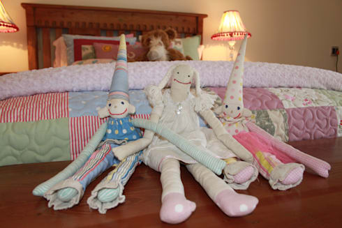 Hand Made Dolls: country Bedroom by Inside Out Interiors