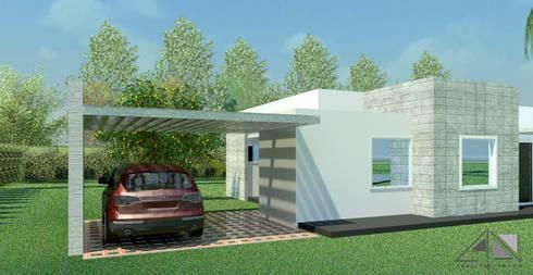 Casa Diagonal:  de estilo  por ARQUITECTOnico