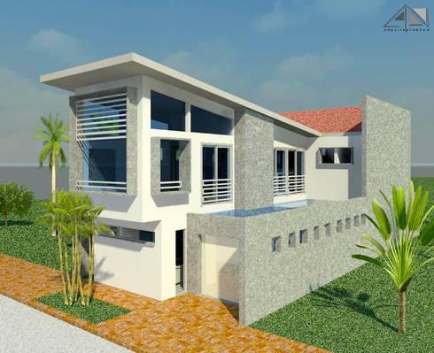 Casa Morichal:  de estilo  por ARQUITECTOnico