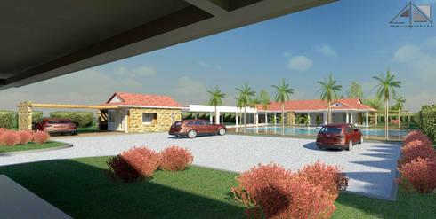 Hotel Casa Campestre:  de estilo  por ARQUITECTOnico
