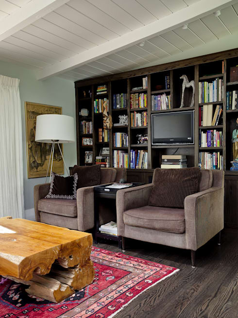 Wagon Trail: eclectic Media room by Andrea Schumacher Interiors