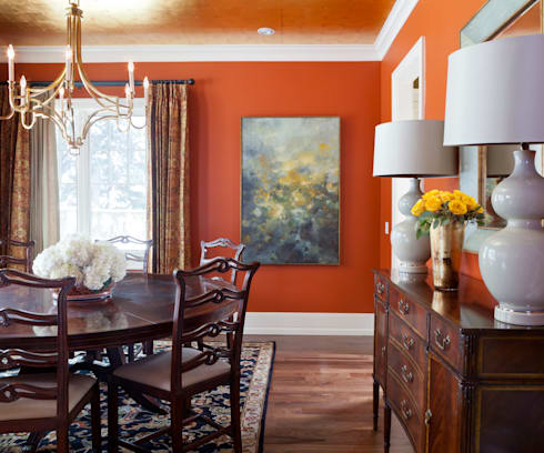 Supremely Sophisticated: classic Dining room by Andrea Schumacher Interiors