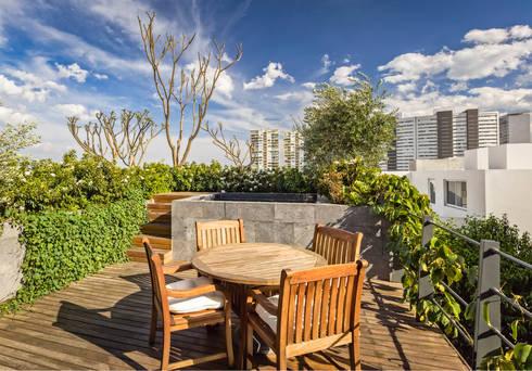 Casa CSF: Terrazas de estilo  por Lopez Duplan Arquitectos